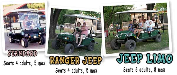 Golf Cart Rental Image - Jellystone park fort atkinson