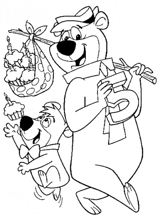 Kids Pages - yogi-bear-coloring-pages-17 - Jellystone park Fort Atkinson, WI